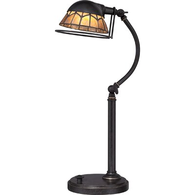 """Quoizel Vivid Whitney 19.5"""" H Table Lamp with Bowl Shade"""