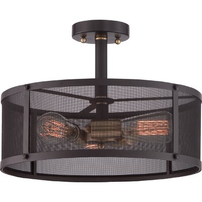 Ketaiya 3-Light Semi-Flush Mount