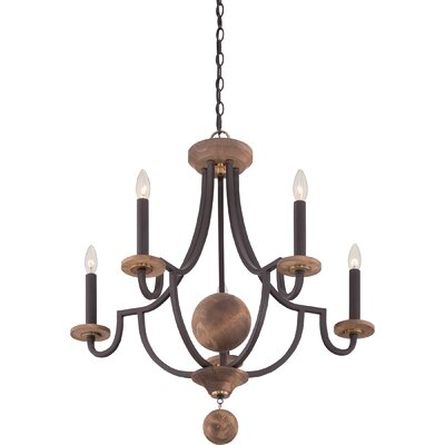 Wyndmoor 5-Light Candle-Style Chandelier