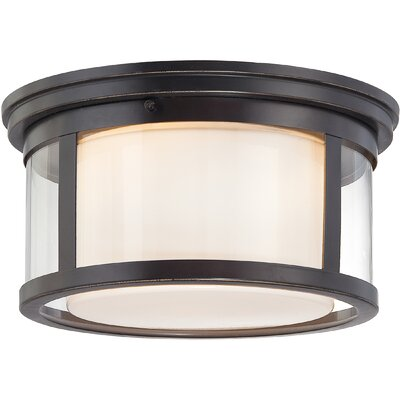 Calina 2-Light Flush Mount Size: 7 H x 13 W