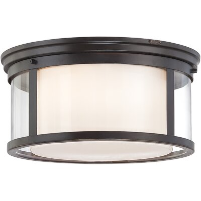 Calina 2-Light Flush Mount Size: 7.50 H x 15 W