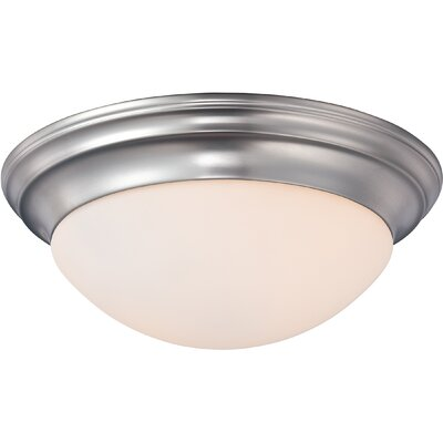 Brundrett 2-Light Flush Mount Finish: Brushed Nickel