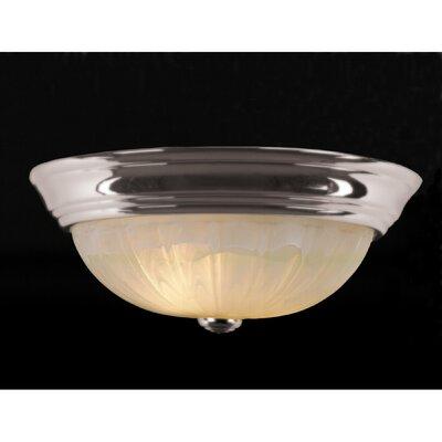 Alabaster Melon 2-Light Flush Mount Finish: Empire Silver