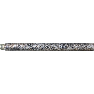 Mini Pendant Extension Rod Size / Finish: 6 H x 0.5 W x 0.5 D / Mottled Silver