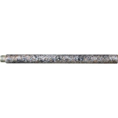 Mini Pendant Extension Rod Size / Finish: 6 H x 0.5 W x 0.5 D / Mottled Silver