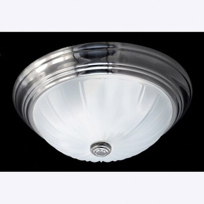 Melon 1-Light Flush Mount Finish: Empire Silver
