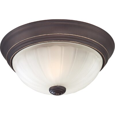 Melon 1-Light Flush Mount Finish: Palladian Bronze