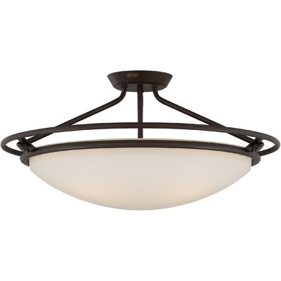 Woolforlk 4-Light Semi Flush Mount Finish: Western Bronze
