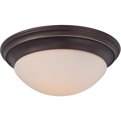 Brundrett 3-Light Flush Mount Finish: Palladian Bronze