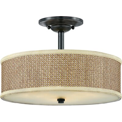 Greene 3-Light Semi Flush Mount