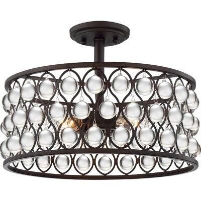 Riley 3-Light Semi Flush Mount