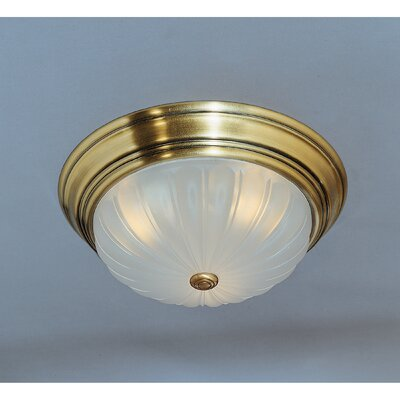 3-Light Melon Flush Mount (Set of 6)