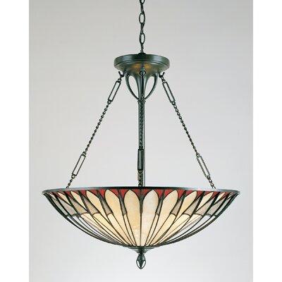 Korycki 4-Light Tiffany Inverted Pendant