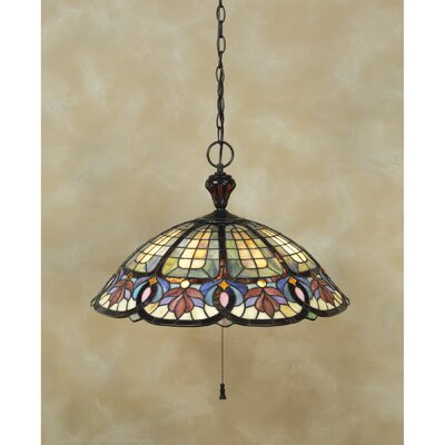 Tadler 3-Light Tiffany Inverted Pendant