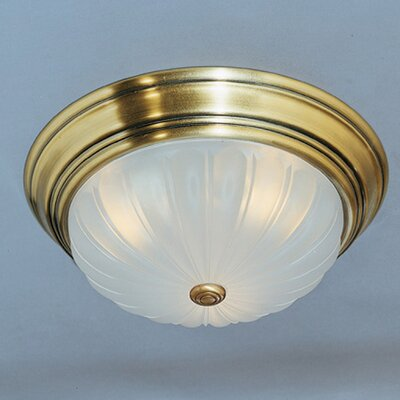 Brummett 1-Light Flush Mount Finish: Antique Brass
