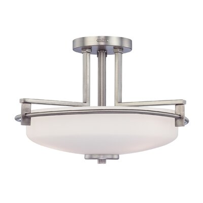 Burchell 1-Light Semi Flush Mount