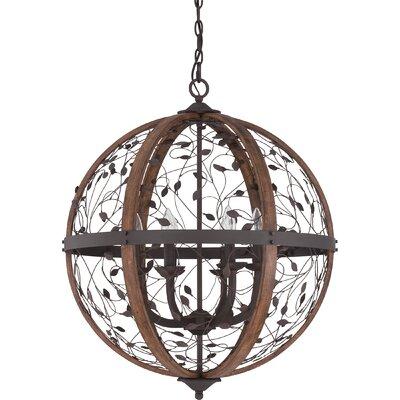 Campeaux Cage 6-Light Globe Pendant