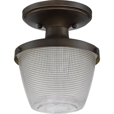 Blayze 1-Light Semi Flush Mount Finish: Palladian Bronze
