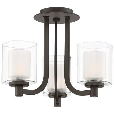 Moreland 3-Light Shaded Chandelier Finish: Western Bronze