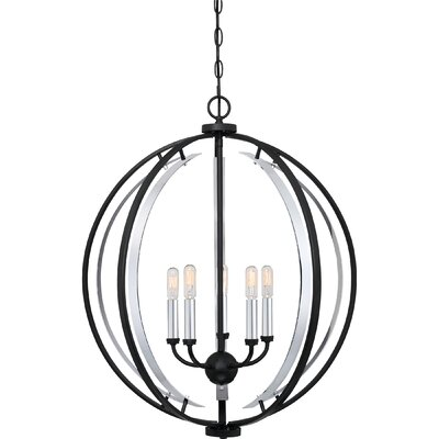 Castlewood 5-Light Globe Pendant
