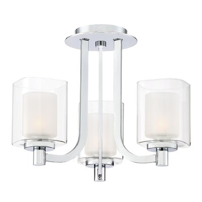 Moreland 3-Light Shaded Chandelier Finish: Polished Chrome