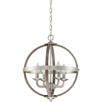 Burrill 4-Light Globe Pendant Finish: Brushed Nickel