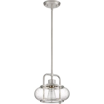 Braxton 1-Light Mini Pendant Finish: Brushed Nickel