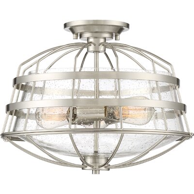 Calline Creek 3-Light Semi Flush Mount
