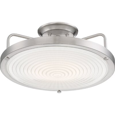 Canistota LED Semi Flush Mount Finish: Brushed Nickel