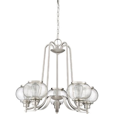 Braxton 5-Light Shaded Chandelier Finish: Brushed Nickel
