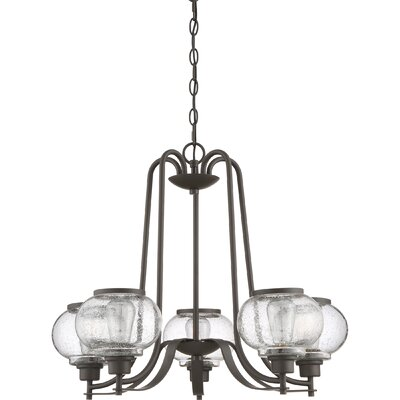 Braxton 5-Light Candle-Style chandelier Color: Bronze