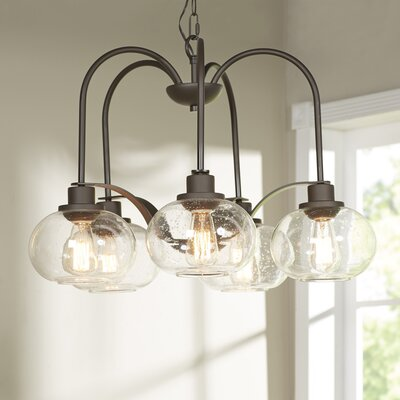 Defeo 5-Light Shaded Chandelier Finish: Bronze