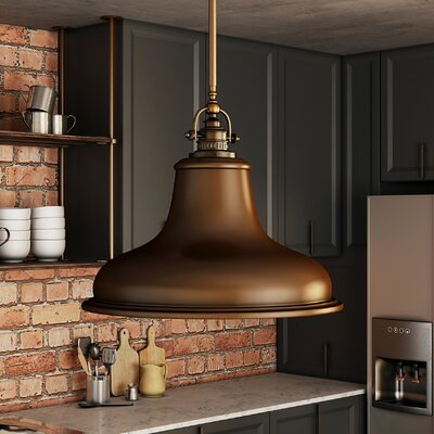 Lumley 1-Light Metal Mini Pendant Finish: Palladian Bronze, Size: Small