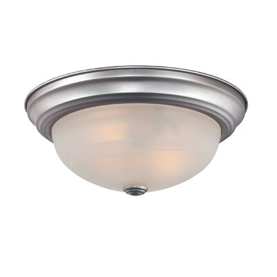 Brundidge 2-Light Flush Mount (Set of 6) Finish: Brushed Nickel