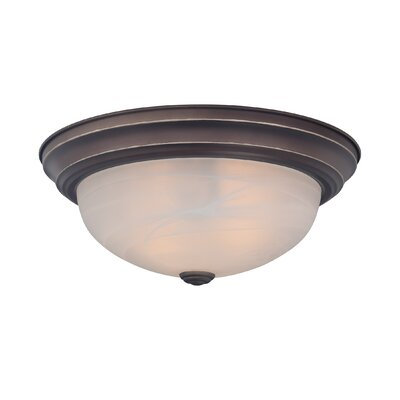 Brundidge 2-Light Flush Mount (Set of 6) Finish: Palladian Bronze
