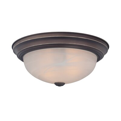 Brundidge 3-Light Flush Mount (Set of 4) Finish: Palladian Bronze