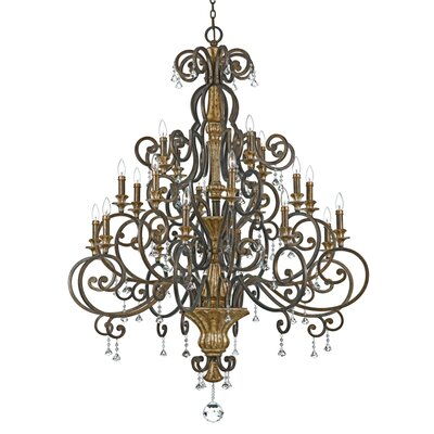 Windsor Rise 20-Light Candle-Style Chandelier
