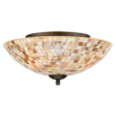 3-Light Monterey Mosaic Semi Flush Mount