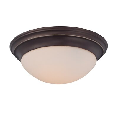 Brundrett 1-Light Flush Mount Finish: Palladian Bronze