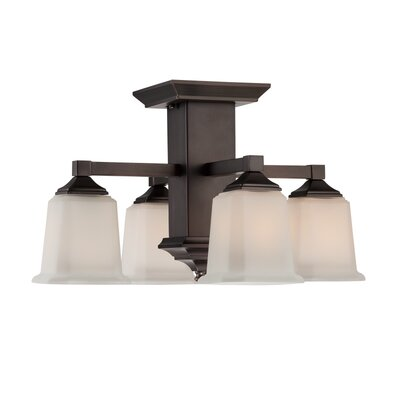 Quoizel Fixture 4-Light Semi Flush Mount Finish: Harbor Bronze
