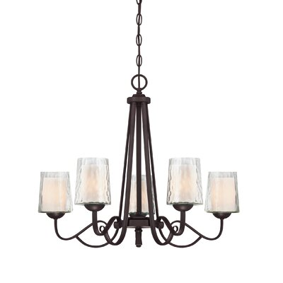Bordelon 5-Light Shaded Chandelier