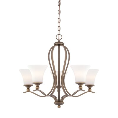Ejikeme 5-Light Shaded Chandelier with Chain