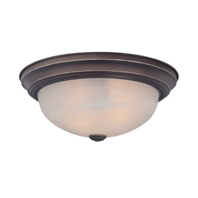 Brundidge 1-Light Flush Mount (Set of 6) Finish: Palladian Bronze