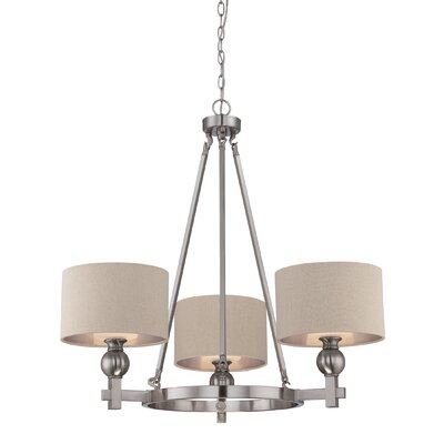 Calmaberry 3-Light Shaded Chandelier