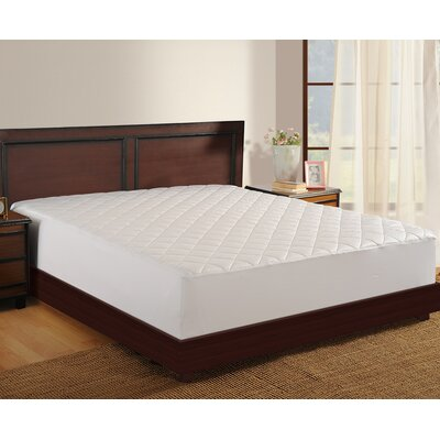 Antimicrobial 400 Thread Count Mattress Pad Size: Twin