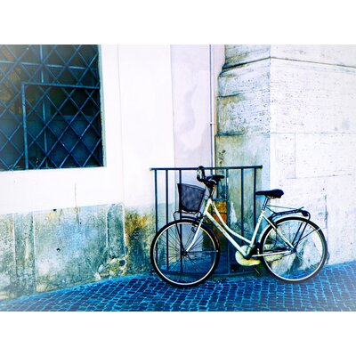 'Biking in Italy' Photographic Print on Canvas