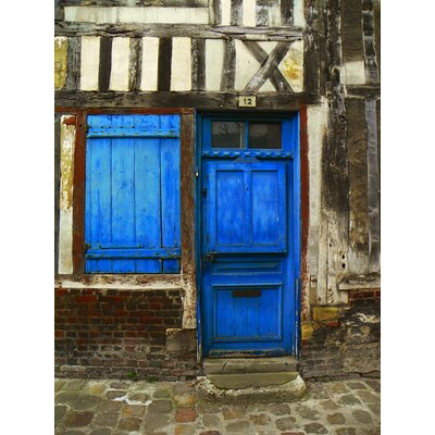 'Blue Door #12' Photographic Print on Canvas LTDR2454 40214365