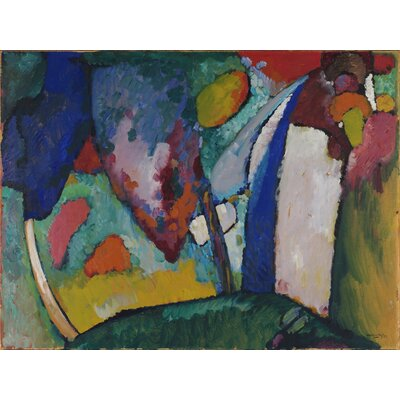 'The Waterfall' by Wassily Kandinsky Oil Painting Print on Canvas