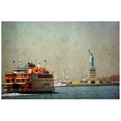 'Staten Island Ferry' Graphic Art Print on Canvas