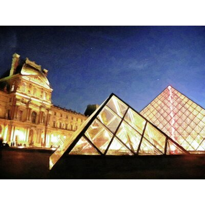 'The Louvre at Dusk' Photographic Print on Canvas